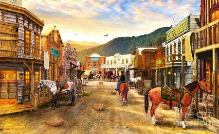 Wild West Town Other Amp Abstract Background Wallpapers On