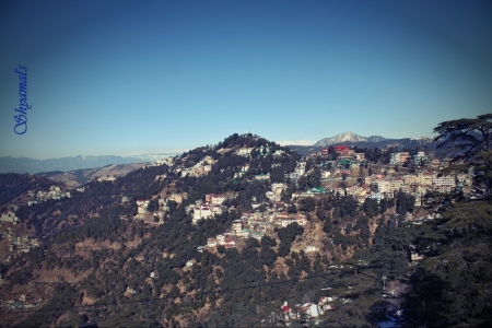 City of simla,India - City over hills, Entertainment, Hills, Simla of India, Mountain