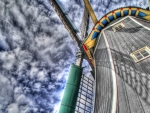 mighty windmill from below hdr