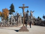 Hill of crosses by autumn. (Lithuania)