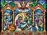 Stained Glass Nativity F