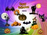 halloween,cat,birds,color,