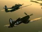 Corsair with TBF Avenger