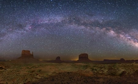 The Milky Way Over Monument Valley - stars, fun, desert, cool, nature, space