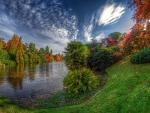 Middle Lake, Sheffield Park At Fall