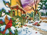 Winter Evening - Birds F