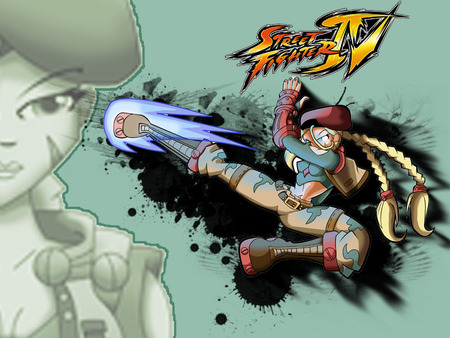 cammy kick - cam, street fighter iv, cammy, street fighter