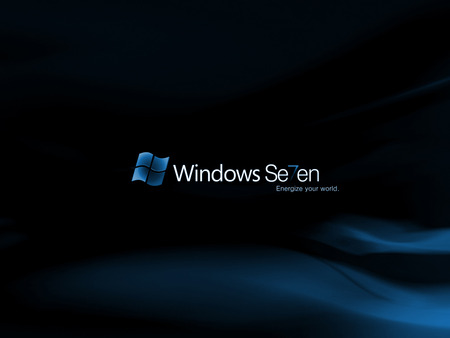 Wallpaper 4 - Windows 7 - windows, windows 7, 7, black, microsoft, seven, blue
