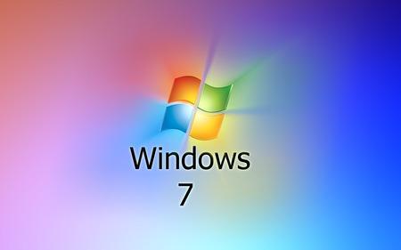 Wallpaper 30 - Windows 7 - blue, microsoft, seven, red, yellow, windows, rainbow, 7, vista, windows 7, green