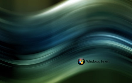 Wallpaper 57 - Windows 7 - balll, microsoft, seven, wave, dark, windows, 7, vista, windows 7, green