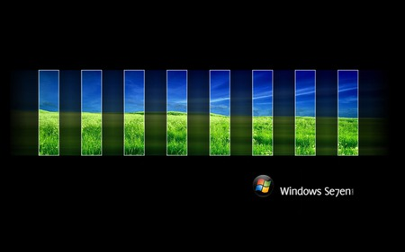 Wallpaper 60 - Windows 7 - blue, microsoft, seven, ball, windows, 7, glass, vista, windows 7, green