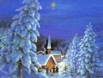 Winter night, christmas time