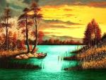 Colorful Fall Sunset
