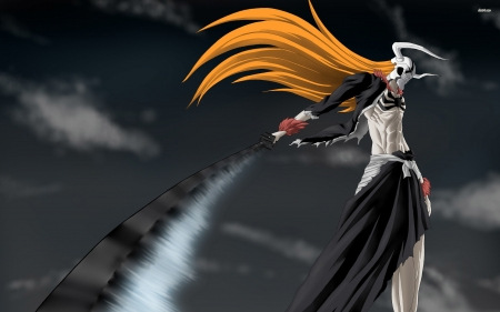 hollow - bleach, hollow, girl, sword