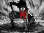 scary monkey d luffy one piece