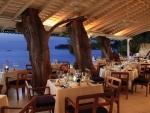 gorgeous seaside restaurant at dusk