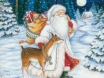 Santa Claus in forest