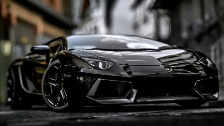 Black Lamborghini Aventador Lamborghini Cars Background