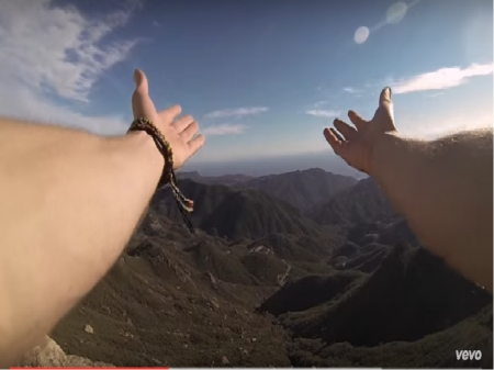 landscape from the nights-avicii - hands, Avicii, music, nature, video, landscape
