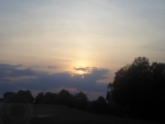 The sun with clouds