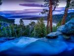 Eagle Falls Over Emerald Bay, Lake Tahoe