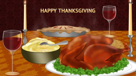 Thanksgiving Dinner - Wallpaper, Thanksgiving, Happy, Dinner
