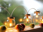 Mason Jar Banner Light