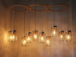 Mason Jar Chandelier Lighting