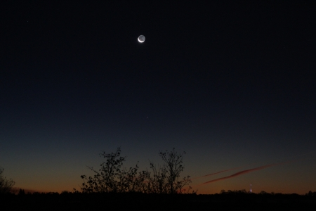 moonrise - moon, nature, night, space