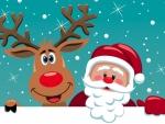 Santa -n- reindeer