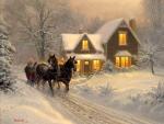 Sleigh Winter Home