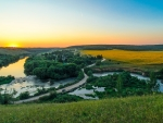 the beautiful sword river near vyazovo russia