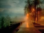 Misty Autumn Evening
