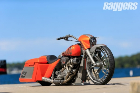 2015 Baggers Build-Off: Nick-Trask - Bagger, Bike, Red, Custom