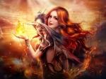 Redhead and Dragon