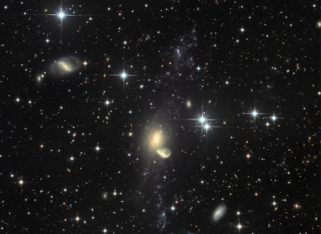 Recycling NGC 5291 - stars, cool, space, fun, galaxies