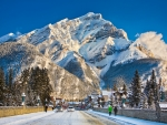 Banff Avenue in Winter