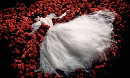 Sweet Destruction - Kristian Schuller, Bride, Red, Girl, Flowers, Sweet