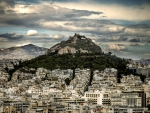 panorama of athens greece hdr