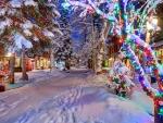 Christmas Lights in Aspen, Colorado