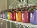 Mason jars used for candles