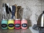 Mason Jar organize kitchen