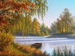 Lake in a Fall Season