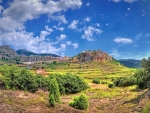 castellon de la plana on a cliff in spain hdr