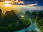 Sunrise At Guilin National Park