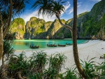 Morning Sunlight At Maya Bay Beach
