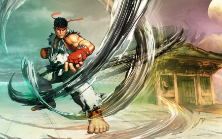Street Fighter V - Ryu - street fighter, characters, video games, Ryu, illustration