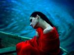 Melancholic Girl in Boat