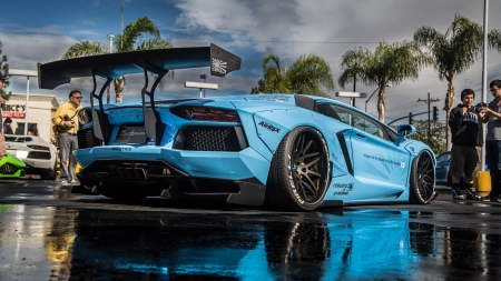 Lamborghini Aventador LB Performance - cars, side view, blue cars, vehicles, lamborghini, Lamborghini Aventador