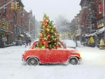 Funny Christmas car